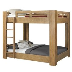 loon peak natural elements standard bunk bed u0026 reviews wayfair