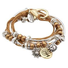 Lizzy James Boho with Gold Tree of Life Charm Trio In Cotton Cord Wrap... ($125) ❤ liked on Polyvore featuring jewelry, bracelets, yellow gold bangle, gold jewelry, gold jewellery, gold bangles and gold charms