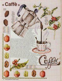Punto De Cruz - Mas de 5,000 Gráficos: CAFE CALIENTE