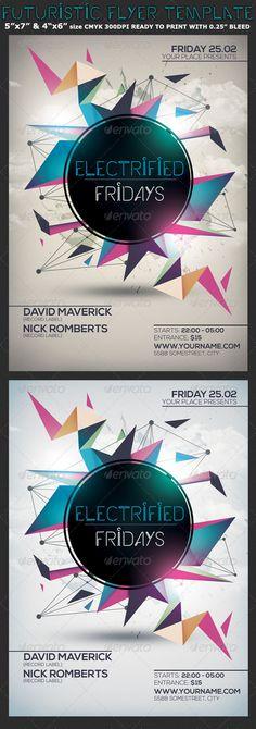 Minimalism Colourful Party Flyer Template — Photoshop PSD #minimal flyer #modern…