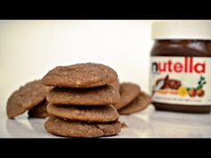This recipe for Nutella Ricotta Cookies creates a cake-like cookies, that's not too sweet but beyond delicious. Nutella Cookies Easy, Chocolate Cookies, Cookies Soft, No Bake Desserts, Dessert Recipes, Ricotta Cookies, Create A Cake, Love Chocolate, Christmas Desserts