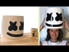 How to make Marshmello Helmet with paper (easy and accurate) Marshmello Head, Dj Marshmello Costume, Marshmello Helmet, Marshmallow Man Costume, Marshmallow Crafts, Birthday Pinata, Birthday Fun, Diy Costumes, Halloween Costumes For Kids