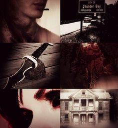 Anna and Cass~ Anna dressed in blood