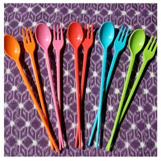 This may save me some dishes...my kids love to use chopsticks in addition to their spoon/fork.