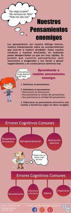Pensamientos negativos #pensamientos #psicología #INFOGRAFÍA