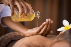 CBD massage combined with aromatherapy provides session benefits beyond basic touch. The art and skill of your massages are undeniably restorative for your clients, but massage alone does not creat… Self Massage, Good Massage, Massage Lotion, Diy Tanning Oil, Ayurveda, Massage For Women, Essential Oils For Nausea, Oil For Stretch Marks, Ayurvedic Oil