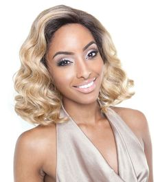 Isis Brown Sugar Seamless Human Hair Blend Lace Front Wig BS501 VALENCIA