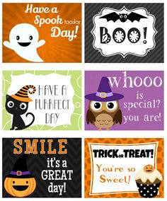 These super cute printable Halloween lunch box notes are just the thing to add some cute-yet-spooky fun to your child's lunch box.