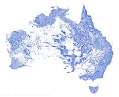 Australia plotted by every mapped stream and river... all 1.3 million of them! - Album on Imgur