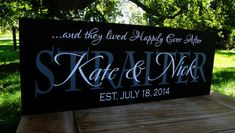 Would LOVE something like this!! Wedding Gifts Anniversary Gift Personalized by SugarCreekLane, $38.95
