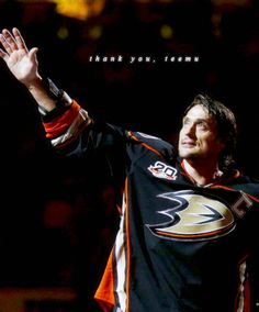 Teemu Selanne played his final regular season game tonight. The Finnish Flash ranks 11th among all-time leaders in goals, tied for 37th in all-time assists, 15th in all-time scoring, third in all-time PPG, tied for fourth with Brett Hull in all-time GWG (110) and 22nd in all-time games. Thank you Teemu.