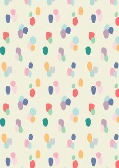 Painted dots pattern A/W15 - Rice.dk by Studio Sjoesjoe