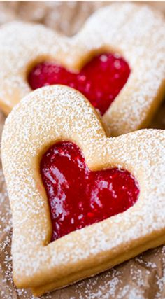 Valentines Linzer Cookies ~ they taste heavenly... Heart shaped cookies are a Valentines must. So get these on your list for that special someone - or for yourself