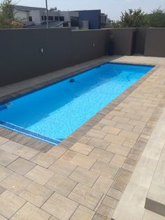 Bosun pavers can be used in conjunction with various styles and types of pool copings but are most popular around modern, rectangular swimming pools. Small Inground Pool, Small Pools, Pool Decks, Pool Paving, Pool Landscaping, Pool Finishes, Paving Ideas, Pool Care, Rectangular Pool