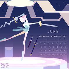 ⚔️ 2018 Calendar ⚔️ the birthstone of June: Pearl! June facts: another birthstone of June is apple picking mom Alexandrite! and on June 1st is Kathleen Fisher the beloved poly grandma Fluorite...