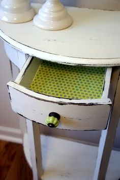 I love the green inside and the knob!  Great idea!