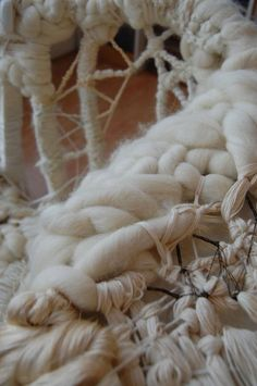 Love the woolly, randomness of this, by artist Olivia Lee. textiles, sea, beach, sewing, fashion, detail, embellishment