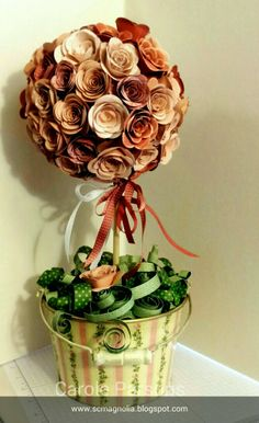 Magnolia's Place: Spiral Flower Die Topiary