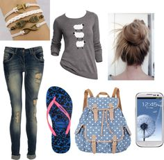 """""""School"""" by layssoliveira ❤ liked on Polyvore"""