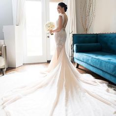 Modern column dress with shoulder accents and with open cleavage area. There is a bold golden zipper placed central on the back. Galia Lahav Wedding Gowns, Wedding Dresses, Hotel Wedding, Luxury Wedding, Girls Dresses, Flower Girl Dresses, Los Angeles Wedding Photographer, Column Dress, Gorgeous Wedding Dress