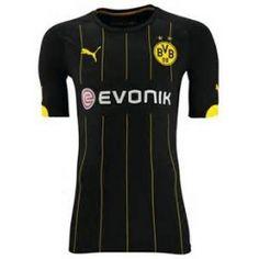 b9a173b11 14 15 Borussia Dortmund Away Black Jersey Shirt Camisa De Jersey