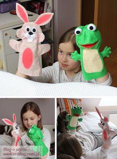 Pacynki / kukiełki dla dzieci (szycie krok po kroku) + wykrój
