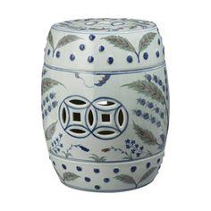 Chinese Barrel Seat, Iznik Design