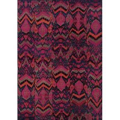 "Bright Bassam Rug, Magenta | Lulu and Georgia, 7'8"" round, $599"