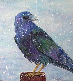 Raven Black  Bird Child's Room Decor Fairy Tale by RickyArtGallery