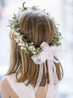 38 Super Cute Little Girl Hairstyles for Wedding - Wedding Crown Girls Crown, Flower Girl Crown, Flower Girl Dresses, Flower Crowns, Flower Girl Headpiece, Simple Flower Crown, Flower Girl Wreaths, White Flower Crown, Cute Little Girl Hairstyles