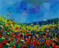 """wild flowers 561190"" - Original Fine Art for Sale - © pol ledent"