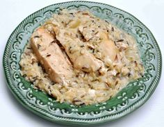 slow cooker chicken and rice (with wild rice)
