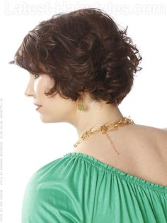 """24 Chic Short Haircuts That'll Make You Want To Go Short — The Bouncy Bob (""""[T]his style is perfect for someone with naturally curly hair."""") (Recommended Products: """"Sculpting Foam by Paul Mitchell mixed with a little bit of Super Skinny Serum is a great way to get those natural curls going without too much frizz!"""")"""