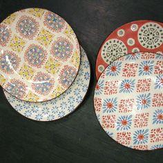 Assiettes à dessert (par 4) Bohemian en céramique Chehoma
