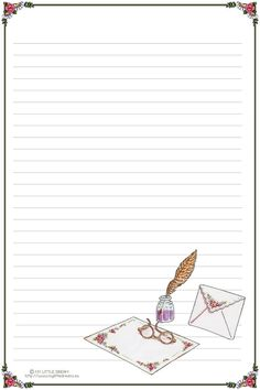 carta da lettera senza righe - Cerca con Google                                                                                                                                                      Más Printable Lined Paper, Free Printable Stationery, Journal Paper, Journal Cards, Theme Harry Potter, Cute Journals, Paper Frames, Stationery Paper, Planner Pages