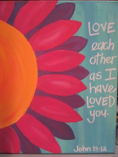 Painting with scripture