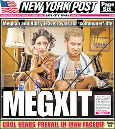 Newspaper Front Pages, Prinz Harry, Stand Down, Madame Tussauds, Lol, New York Post, Prince Harry And Meghan, Inevitable, Meghan Markle