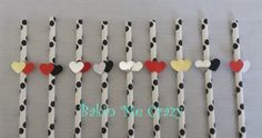 20 Black and White Polka Dot Paper Straws a double by BakinMeCrazy, $12.00