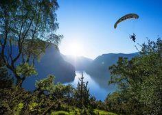 The sky is the limit in #Norway  #Aurland  #Ekstremsportveko @ekstremsportveko begins Jun 26 in #Voss @fjordnorway : @noooondal