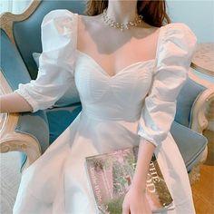 Estrella Puff Sleeve Mini Dress Pretty Outfits, Pretty Dresses, Beautiful Dresses, Simple Dresses, Elegant Dresses, Mini Dresses, Ball Dresses, Evening Dresses, Ulzzang Fashion