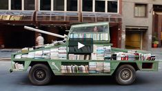 More on Colossal: http://www.thisiscolossal.com/2015/03/weapons-of-mass-instruction-book-tank/