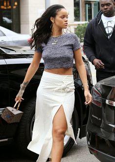 Rihanna leaves La Acala Restaurant in Beverly Hills