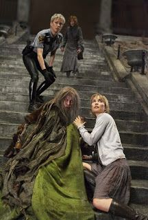 Silent Hill movie; Rose Da Silva, Cybil Bennet, Dahlia Gillespie and Anna running to the church to get away from The Pyramid-Head