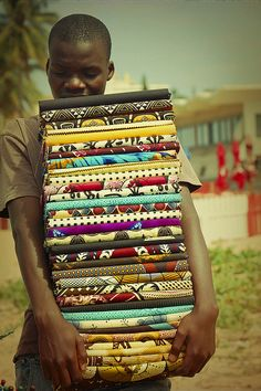 Textile Seller - Mozambique  - Explore the World with Travel Nerd Nici, one Country at a Time. http://travelnerdnici.com