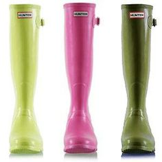 #color hunter boots... pink please!