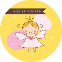 Golden Royal Fairy Princess Birthday Party Invite