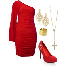 """Red"" by wonderland449 on Polyvore"