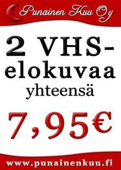 2 VHS-elokuvaa yhteensä 7,95e!