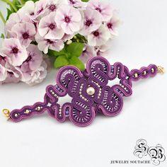 Brazalete de soutache Soutache joyas regalo por SBjewelrySoutache