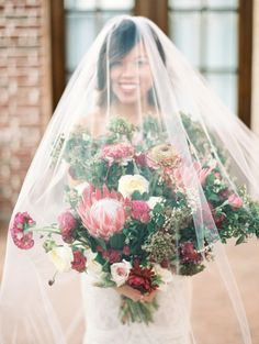 Romantic Pink, Green and Bordeaux Wedding Ideas